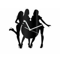 Zegar z pleksi na ścianę Kobiety z białymi wskazówkami
