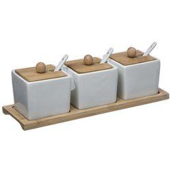 Secret de gourmet Naczynia do serwowania, deska do serwowania i miski porcelanowe z pokrywką, miseczki na przekąski, miseczki do dipów, zestaw do sushi (3560239703297)
