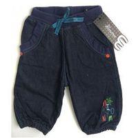Spodnie, spodenki jeansowe ciepłe z podszewką r 62 marki Minymo