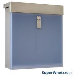 Skrzynka na listy mailbox x poly niebieska jasna marki Max knobloch