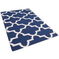 Dywan niebieski wełniany 80x150 cm SILVAN