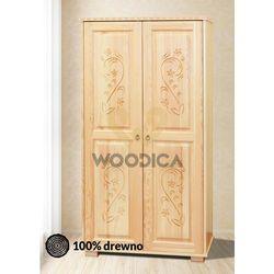 1. szafa góralska [2d] 100x190x57 marki Woodica
