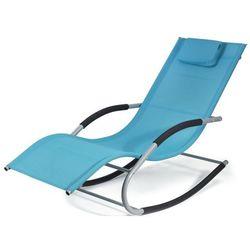 Leżak bujany HOMEKRAFT Bergamo Niebieski + DARMOWY TRANSPORT! - produkt z kategorii- Leżaki ogrodowe