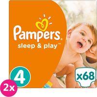 2x PAMPERS Sleep&Play 4 MAXI 68 szt. (7-14 kg) JUMBO PACK – pieluszki jednorazowe, towar z kategorii: Pieluc