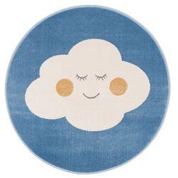 Dywan okrągły Soft Cloud 100 cm lazurowy