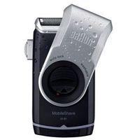mobileshave m-90 maszynka do golenia w wersji podróżnej srebrna (precision trimmer, smart foil, wide floatin
