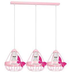 Milagro Kago MLP4928 lampa wisząca dziecięca 3x60W E27 różowy (5902693749288)