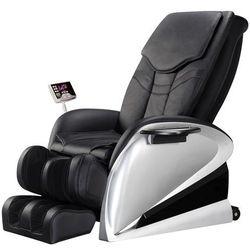Fotel do masażu inSPORTline Sallieri czarny - Kolor Czarny, kolor czarny