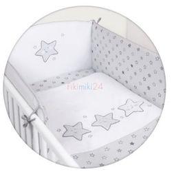 Ceba baby Ceba pościel bawełniana c-3 haft gwiazdki szare