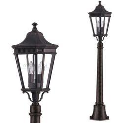 Elstead Zewnętrzna lampa stojąca cotswold lane fe/cotsln4/m gb  feiss oprawa ogrodowa słupek latarnia ip44 outdoor brązowy, kategoria: lampy ogrodowe