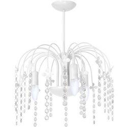 Plafon lampa sufitowa laura mlp 1136 dziecięca oprawa z kryształkami crystal biała marki Milagro