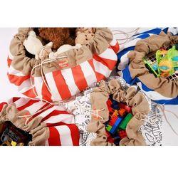 Estoy boox worek na zabawki - zielone pasy, marki Olmitos
