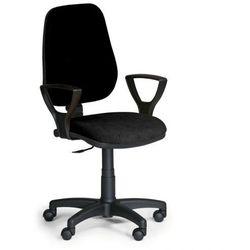 Krzesło biurowe comfort pk z podłokietnikami - czarny marki B2b partner