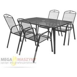 HECHT Zestaw mebli ogrodowych stół + 4 krzesła Navassa Set 4