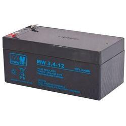 Akumulator żelowy 12V/3,4Ah MW Pb 134x66x66mm 6-9