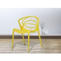 Krzesło żółte - do jadalni - ogrodowe - do kuchni - kuchenne - BEND