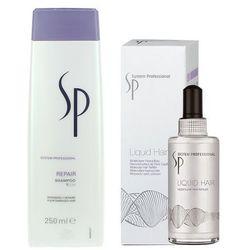 Wella  sp repair | zestaw regenerujący: szampon 250ml + serum liquid hair 100ml