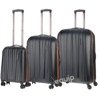 March Zestaw walizek  rocky - czarny-pomarańcz, kategoria: torby i walizki