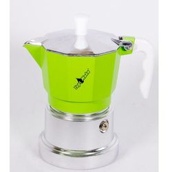 Kawiarka top 3 filiżanki - srebrno zielona marki Top moka
