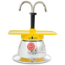 Kawiarka Top Moka Mini 2 filiżanki - srebrno żółta indukcja