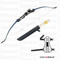 Jandao Łuk sportowy eraser beetle blue - niebieski + kołczan i 3 strzały klasyczny