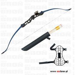 Łuk sportowy Eraser BEETLE BLUE - niebieski + kołczan i 3 strzały klasyczny