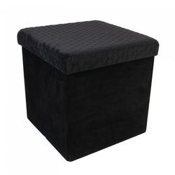 Pufa Intesi Vels Honey black, kolor czarny