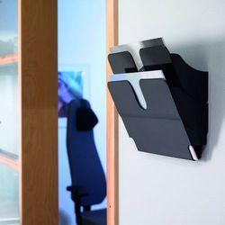FLEXIPLUS A4 2 poziome pojemniki na dokumenty, czarne, Durable, 1709014060