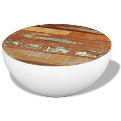 vidaXL Stolik kawowy z drewna odzyskanego na kształt misy 60x60x30 cm (8718475995319)