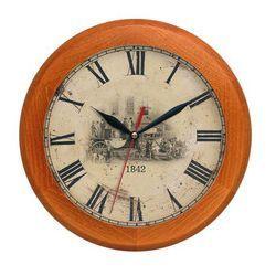 Zegar drewniany rondo dyliżans, kolor Zegar