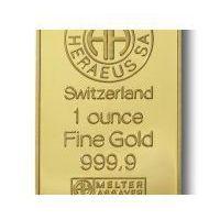 31,1g x 10szt. Sztabka złota mennica Argor-Heraeus Szwajcaria - Dostawa Natychmiastowa