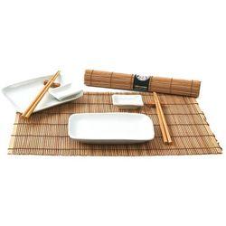 Zestaw do sushi biało-brązowy, 10 elementów (8717703610727)