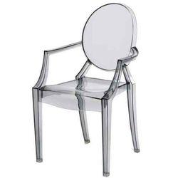 D2.design Krzesło dziecięce mini royal junior inspirowane louis ghost - szary ||transparentny (5902385707473)