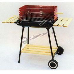 Grill ogrodowy węglowy na kółkach - 58x38cm (grill ogrodowy)