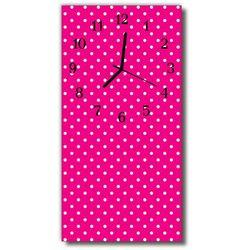 Zegar Szklany Pionowy Sztuka Kropki kropeczki różowy, kolor różowy