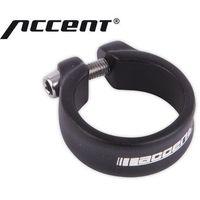 610-02-96_acc obejma ze śrubą imbusową  slim 34,9 mm czarna piaskowana wyprodukowany przez Accent