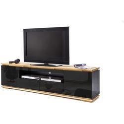 Szafka RTV ARON czarna 202/54/40 cm