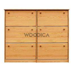 Szafka na buty iii podwójna (wąska/szeroka) 110x115x29 marki Woodica
