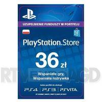 playstation network 36 zł [kod aktywacyjny] marki Sony