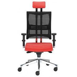Krzesło obrotowe @-motion hru r15k steel33 chrome - biurowe z regulacją głębokości siedziska i zagłówkiem, fotel biurowy, obrotowy marki Nowy styl