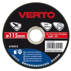 Tarcza do cięcia VERTO 61H530 115 x 1.5 x 22.2 mm do metalu z kategorii tarcze do cięcia