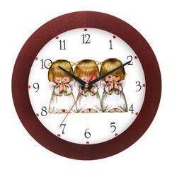 Zegar drewniany solid aniołki, ATW300A1