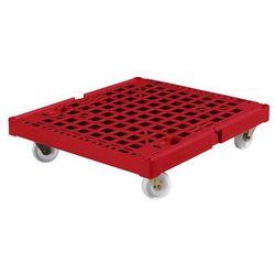Wózek transportowy xl, nośność 500 kg, dł. x szer. x wys. 810x720x195 mm, czerwo marki E.s.b. engineering - system - bau