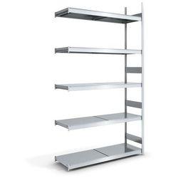 Regał wtykowy o dużej pojemności z półkami stalowymi,wys. 3000 mm, szer. półki 1500 mm marki Hofe