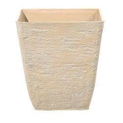 Doniczka beżowa kwadratowa 39 x 39 x 43 cm delos marki Beliani