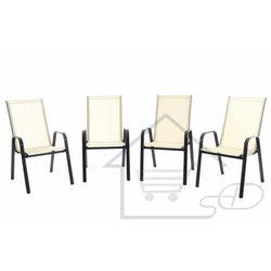 Krzesło ogrodowe 4szt. - leżak składany 4szt. marki 1