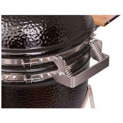 Grill ceramiczny Monolith JUNIOR, czarny ze stelażem na kołach, ruszt 33 cm - produkt z kategorii- grille