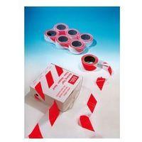 Rolka Taśma ostrzegawcza biało czerwona - szerokość 80 mm, długość 100 m, kategoria: taśmy ostrzegawcz