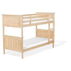 Łóżko piętrowe drewniane jasnobrązowe 90 x 200 cm RADON