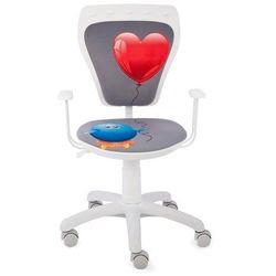 Obrotowe krzesło dziecięce ministyle white - kurczak z sercem marki Nowy styl
